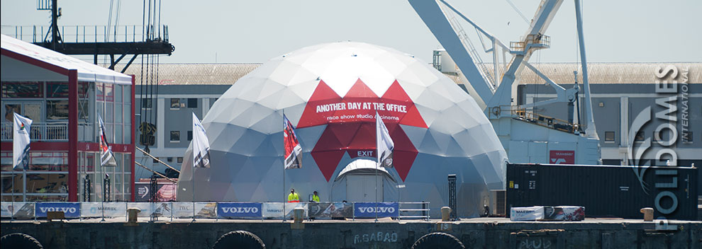 volvo ocean race geodesic dome